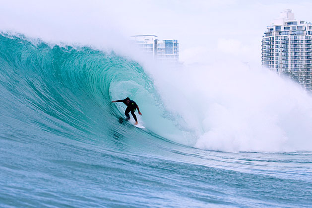Ryan Hipwood surfing Kirra - by Andrew Shield