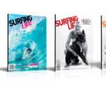 4 Recent Surfing Life issues featuring Mick Fanning on the cover